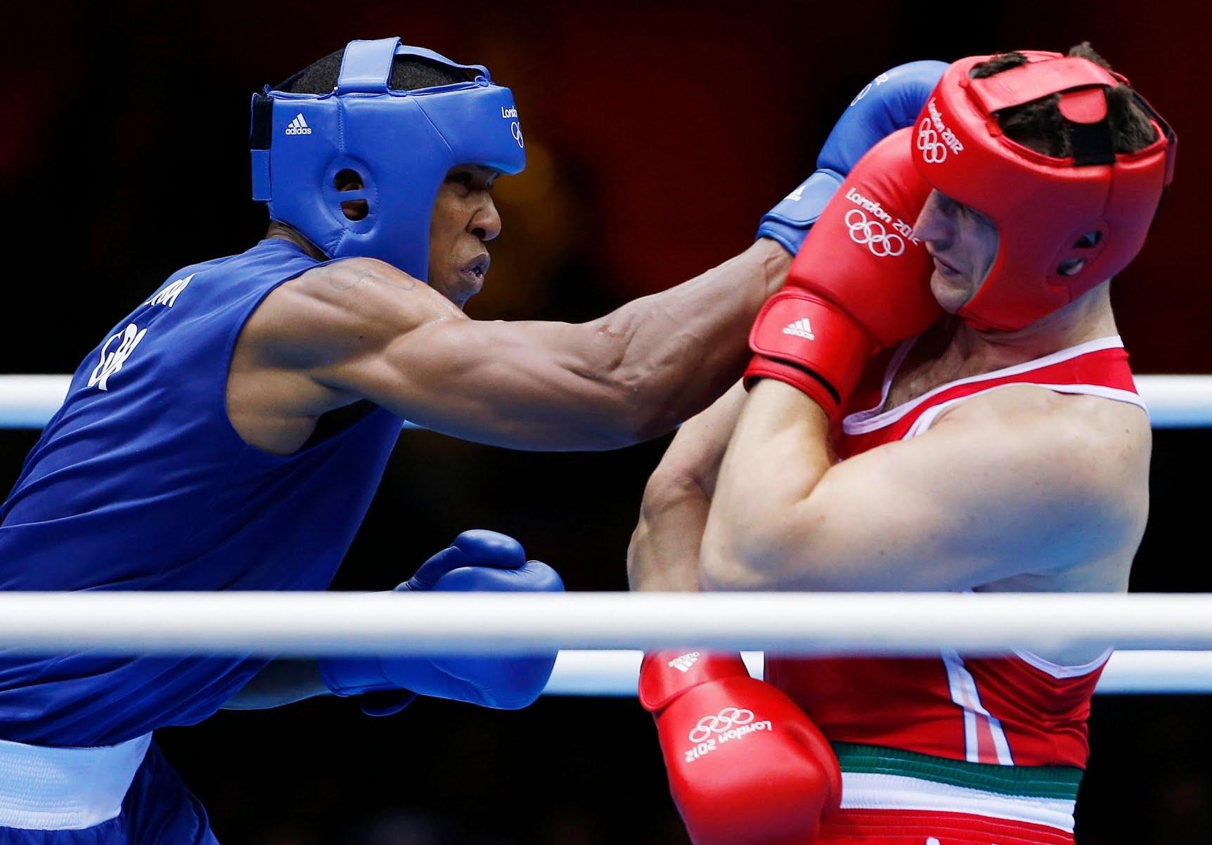 Anthony Joshua beat Italian Roberto Cammarelle in the super-heavyweight final of the 2012 Olympics