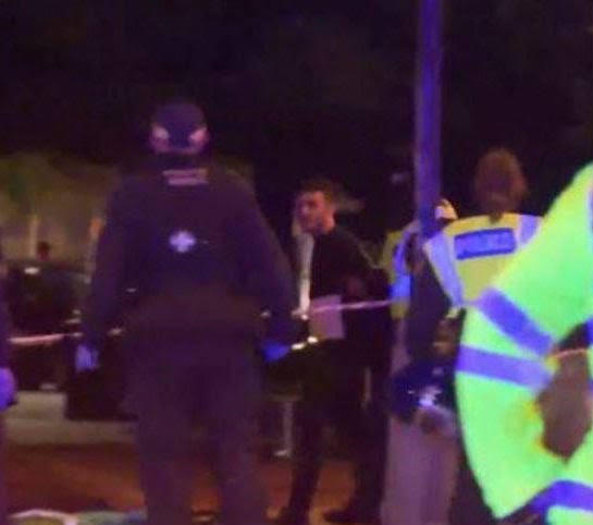 A suspect reportedly being detained amid terror chaos in central London